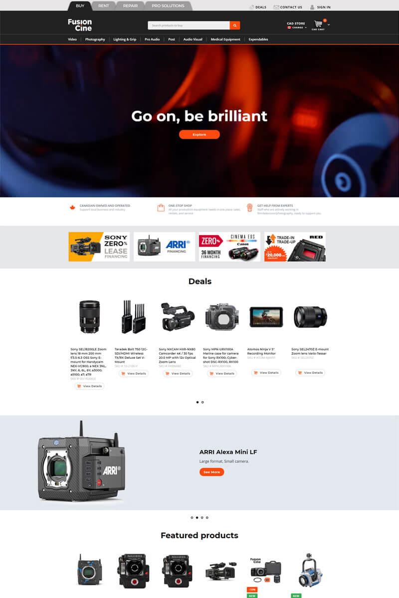 Fusion Cine web design