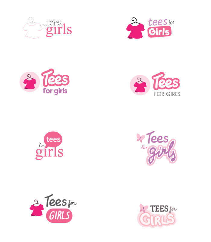 Tees for Girls logo options