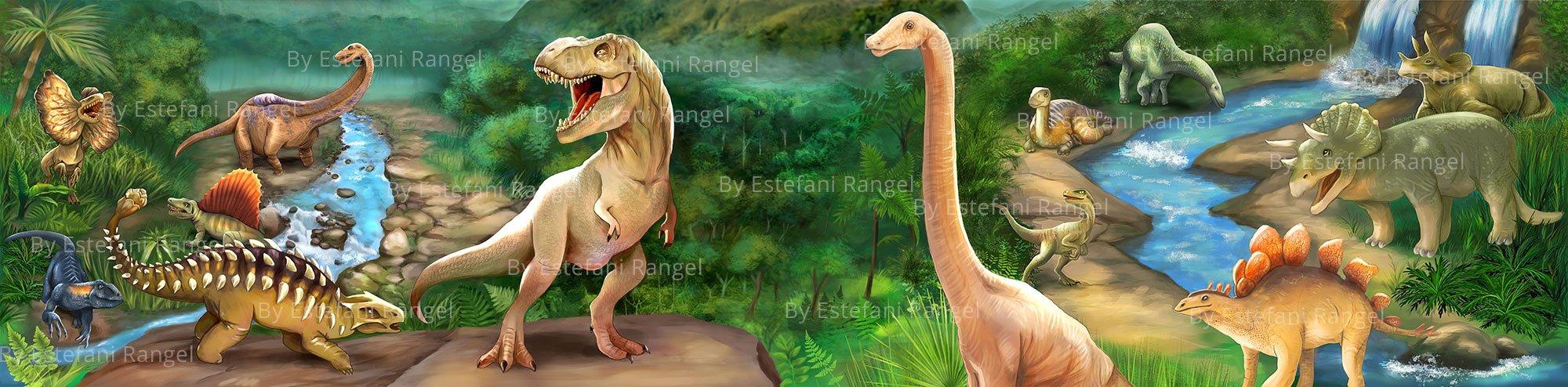Dinosaur Illustration Body
