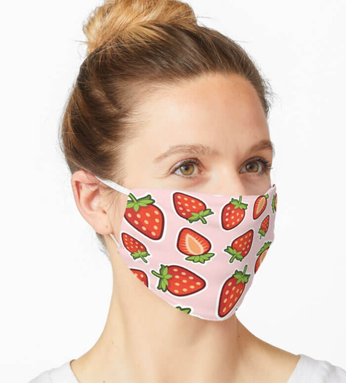 Mask Design Strawberry Explosion