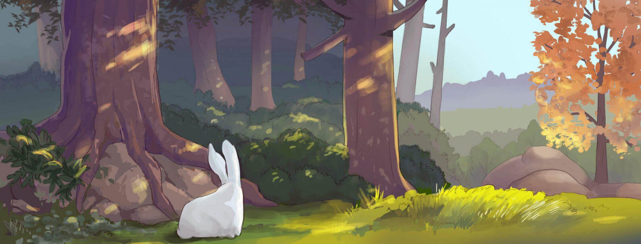 Whimsical Bunny Landscape